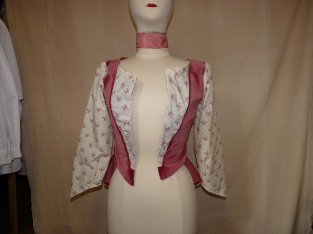 veste inclusions roses