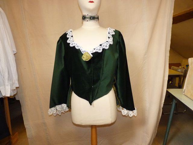 veste velours vert