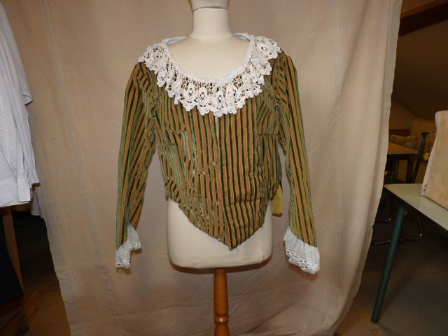 veste velours rayures jaunes et vertes