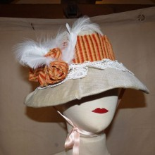 chapeau velours orange